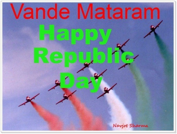 Vande matram happy republic day aeroplanes