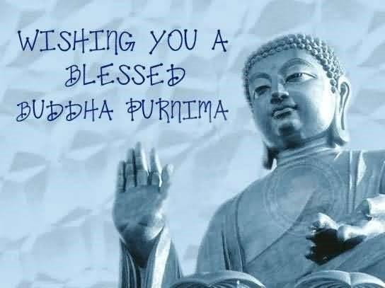 Wishing you a blessed buddha purnima image