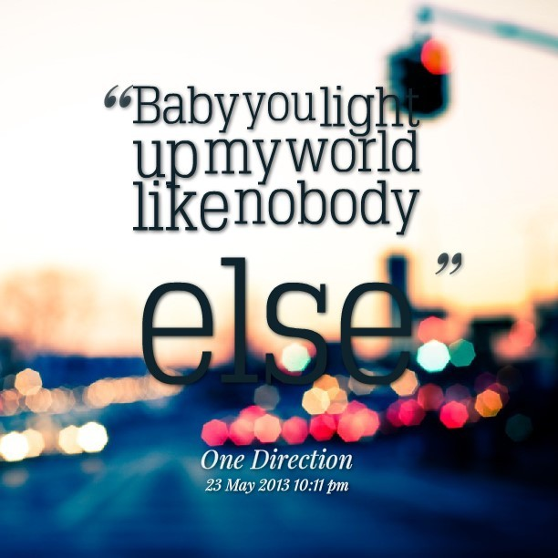 Light up my life like nobody else