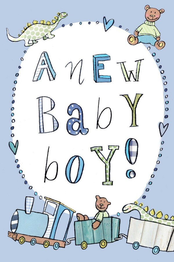 A new baby boy clipart