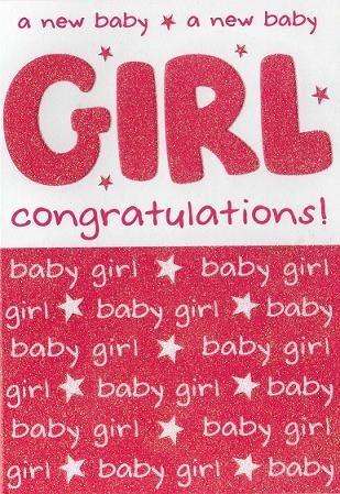 A new baby girl congratulations
