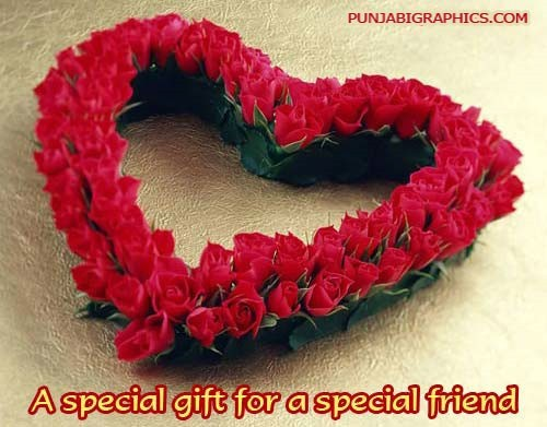 A special gift for a special friend on rose day