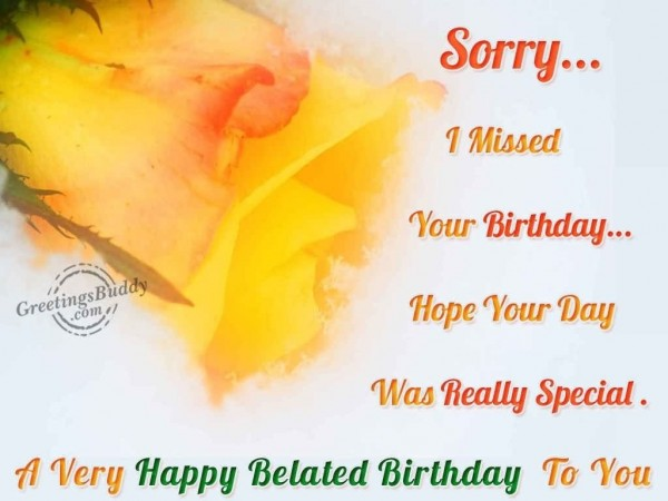 A very happy belated birthday to you image