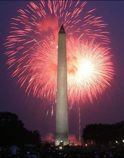 American independence day firework