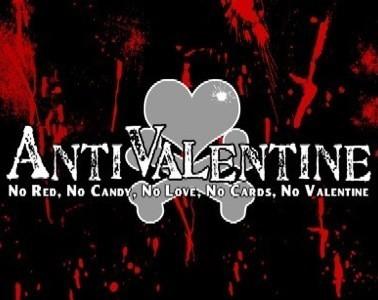 Anti valentine no red no candy no love no cards no valentine