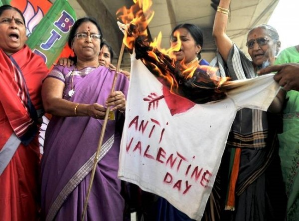 Anti valentines day in india