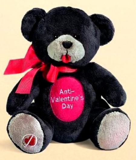 Anti valentines day teddy bear