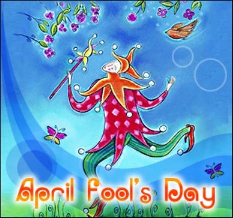 April fools day animated image