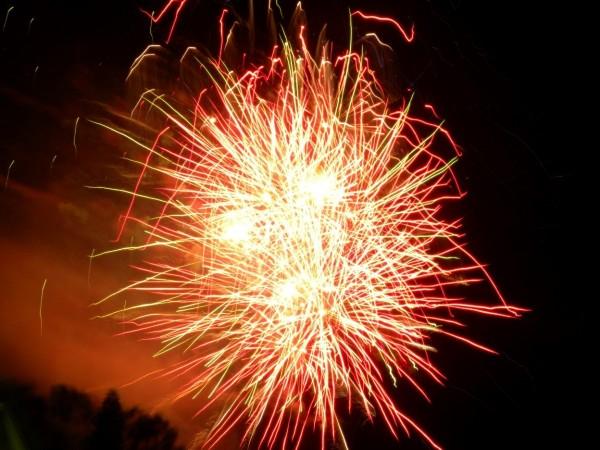 Australia day celebration firework