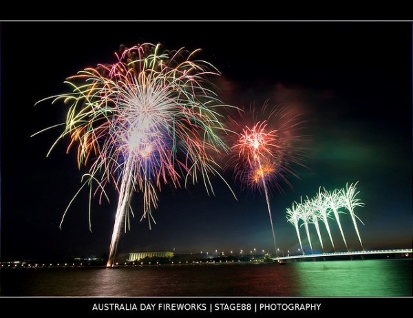 Australia day firework