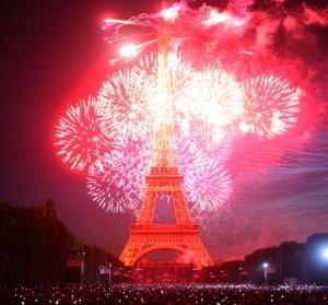 Bastille day fireworks image