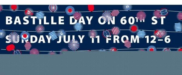 Bastille day on 60th street banner