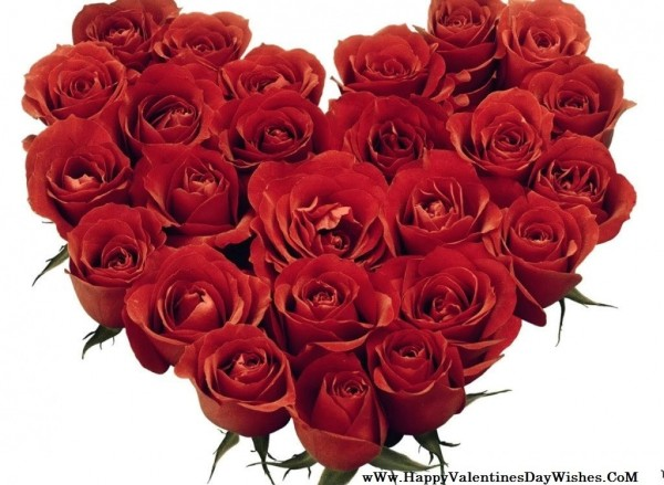 Beautiful heart of roses for you happy rose day