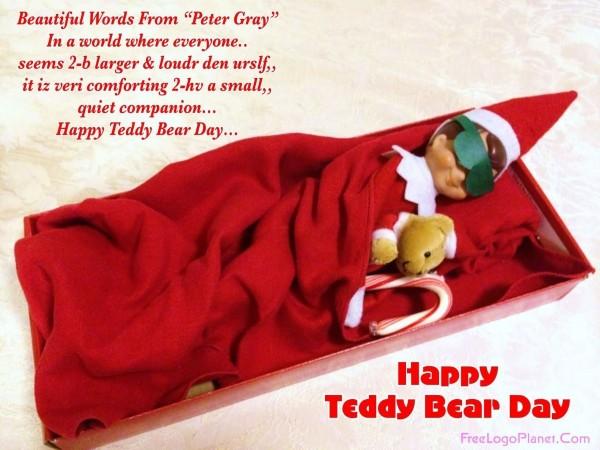 Beautiful words for happy teddy bear day