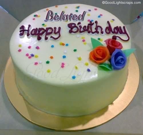 Belated happy birthday cake
