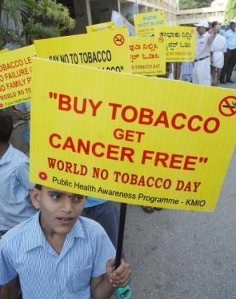 Buy tobacco get cancer free world no tobacco day