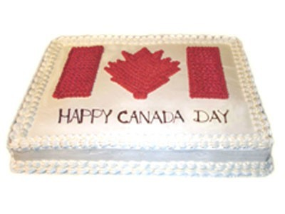 Canada day beautiful canadian flag cake