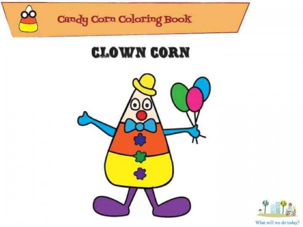 Candy corn coloring book
