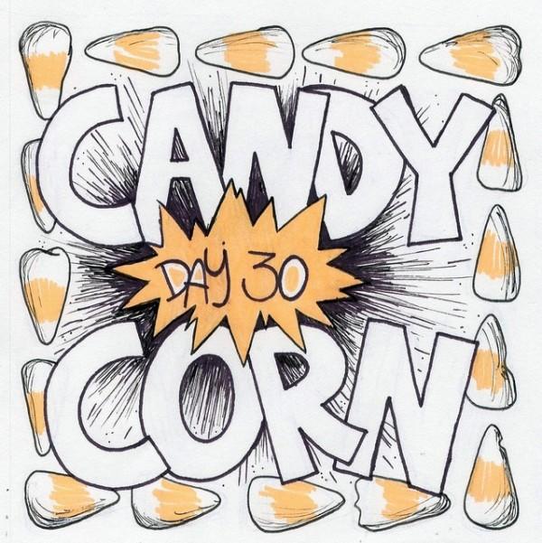 Candy corn day 30