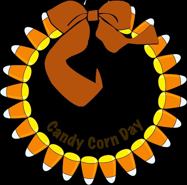 Candy corn greeting card for dear friends