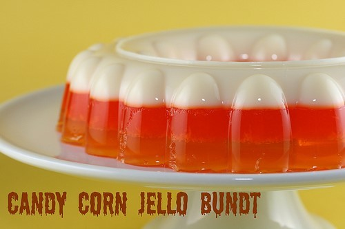 Candy corn jello bundt