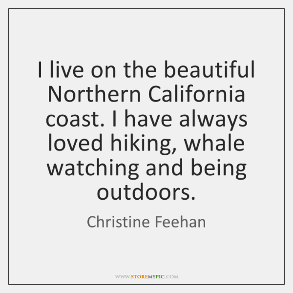 I live on the beautiful Northern California coast. I have always loved ...