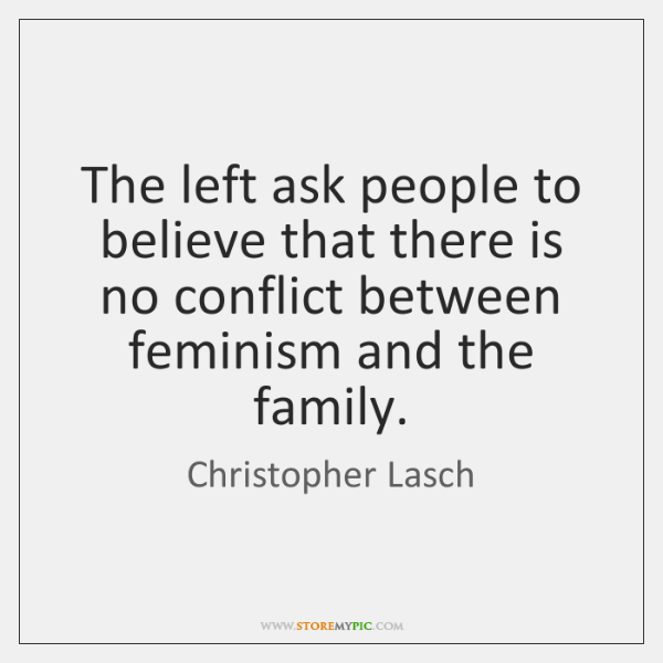 The left ask people to believe that there is no conflict between ...