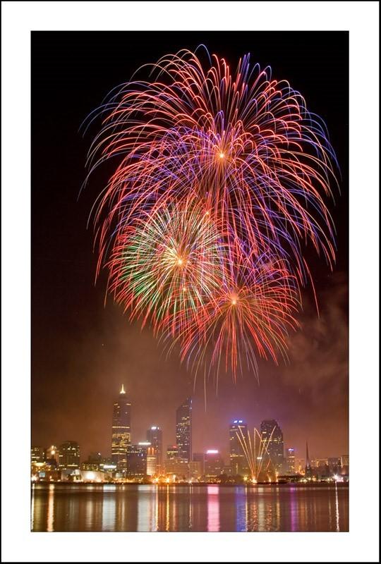 Colorful firework australia day