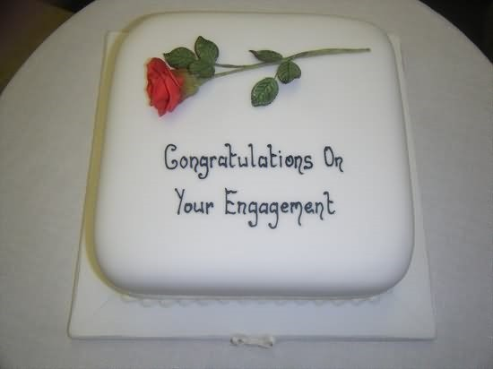 Congratulation on your engagement cake