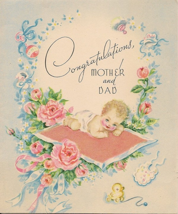 Congratulations mother and dad new baby
