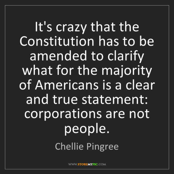 Chellie Pingree: It's crazy that the Constitution has to be amended to...