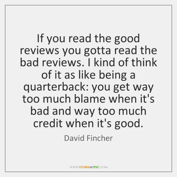 If you read the good reviews you gotta read the bad reviews. ...