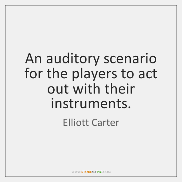 An auditory scenario for the players to act out with their instruments.