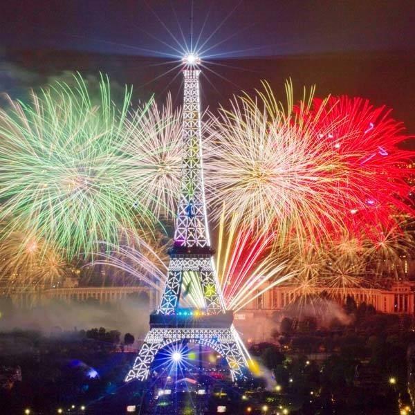 France celebration on bastille day