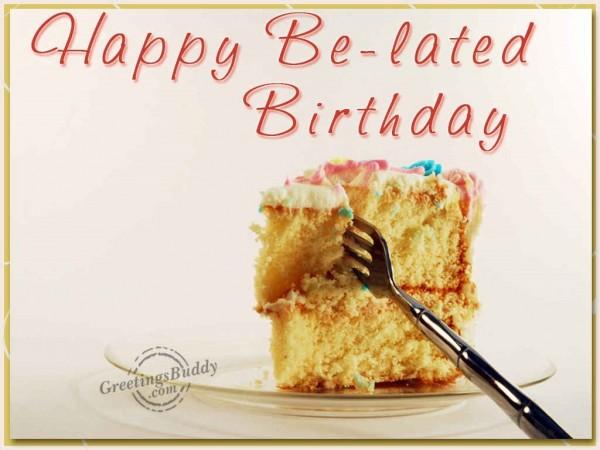 Happy belated birthday cake bite picture