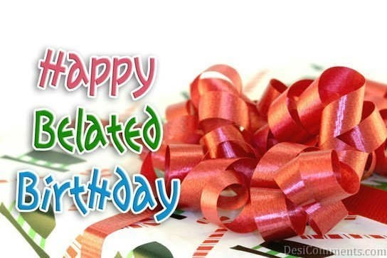 Happy belated birthday gift image