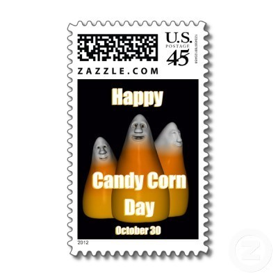 Happy candy corn day postage october 30th