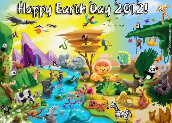Happy earth day animal kingdom