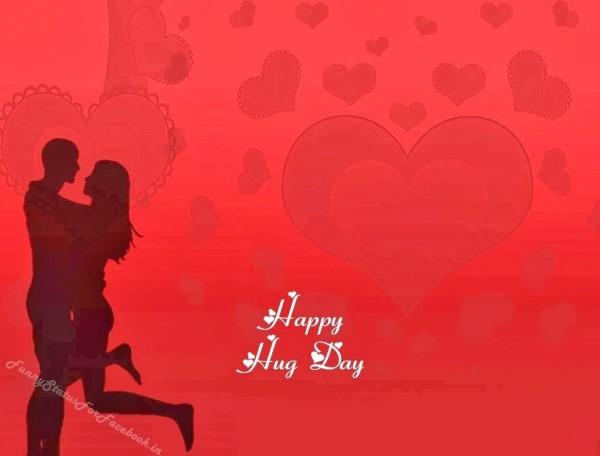 Happy hug day beautiful heart wallpaper