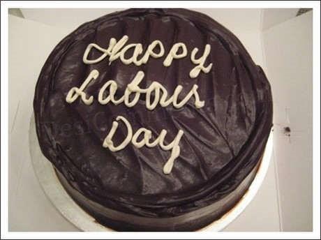 Happy labor day chocolate cake