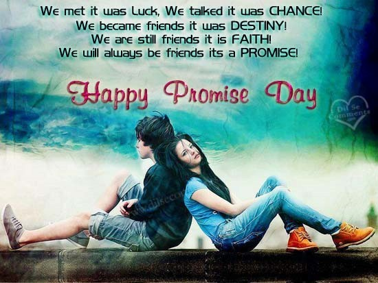 Happy promise day boy and girl image