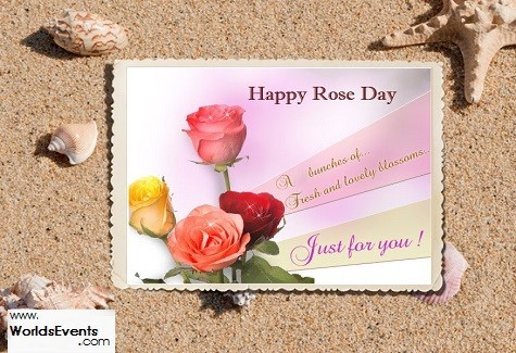 Happy rose day a bunches of fresh and lovely blossoms just for you 002