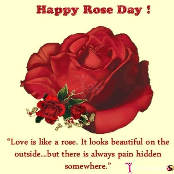 Happy rose day love is like a rose 001