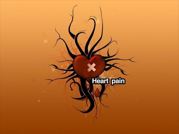 Heart pain anti valentines day