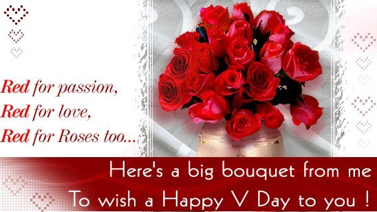 Heres a big bouqet from me to wish a happy rose day to you