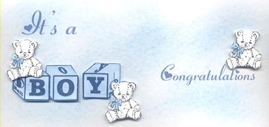 Its a boy congratulations