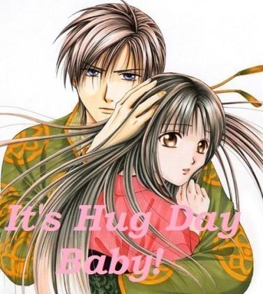 Its Hug Day Baby Anime Couple