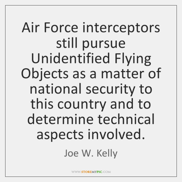 Air Force interceptors still pursue Unidentified Flying Objects as a matter of ...