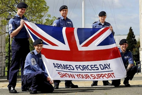 Navy force celebrating armed forces day