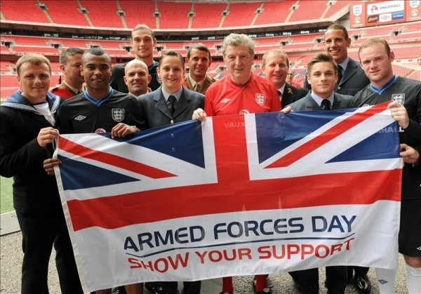 Team celebrate armed forces day show your support with united kingdom flag